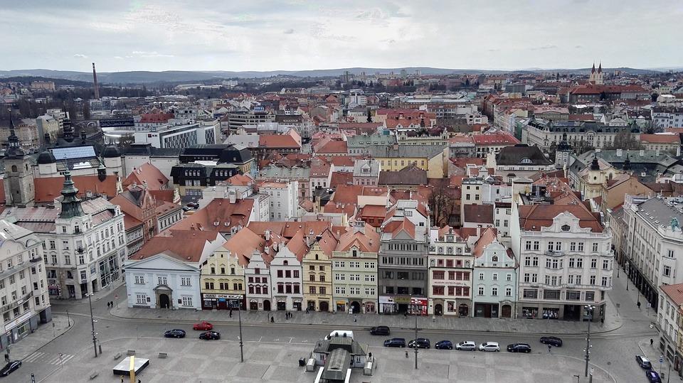 Plzeň z výšky