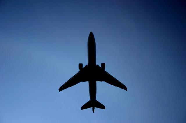 silueta letadla