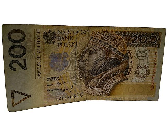 polská bankovka s králem Zikmundem